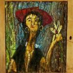 """""""EĆ ze storczykiem w wieku 100 lat wg Modiglianiego"""" 67x59 cm"""