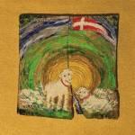"""""""Wielkanocne owieczki"""" 20x18 cm / mal. Edward Duda"""