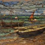 """Barka"" z cyklu JPII 66x102,5 cm"