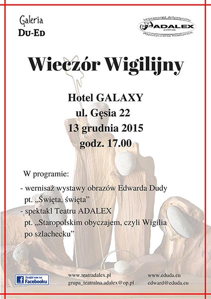 Spotkanie opłatkowe w hotelu Galaxy w Krakowie