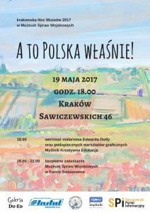Krakowska Noc Muzeów 2017 w Muzeum Spraw Wojskowych. Plakat
